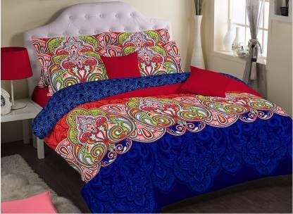 PORTICO NEW YORK 210 TC Cotton Single Printed Bedsheet