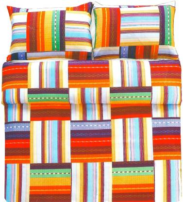 Indian Heritage Polycotton Double Printed Bedsheet