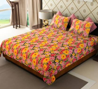 AMETHYST 150 TC Cotton Double Floral Bedsheet