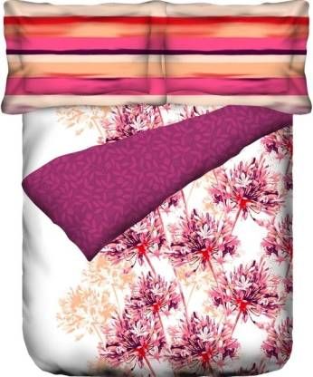 PORTICO NEW YORK 144 TC Cotton Double King Abstract Bedsheet