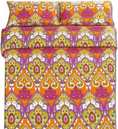 Indian Heritage Polycotton Double Paisley Bedsheet