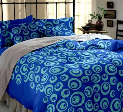 Dreamscape by Decathlon 144 TC Cotton Double Geometric Bedsheet