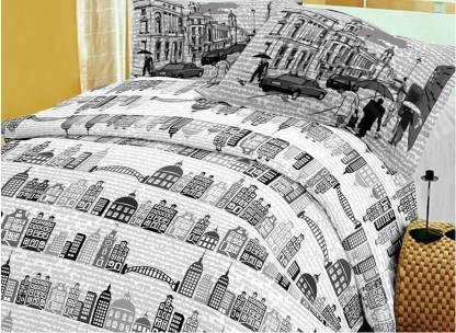 Raymond 144 TC Cotton Double Printed Bedsheet