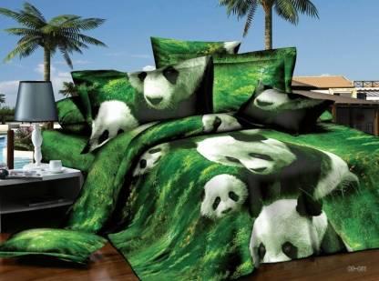 Dexim 150 TC Polyester, Satin Double Animal Bedsheet