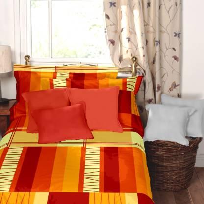 Dreamscape 144 TC Cotton Single Geometric Bedsheet