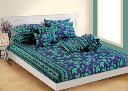 SWAYAM 140 TC Cotton Double Printed Bedsheet