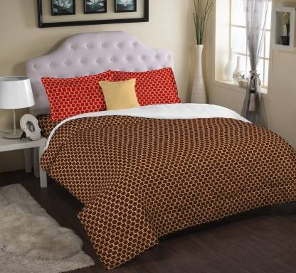 PORTICO NEW YORK 210 TC Double Printed Bedsheet