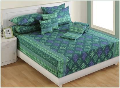 SWAYAM 140 TC Cotton Single Printed Bedsheet