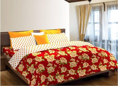 Westa Home 120 TC Polycotton Double Floral Bedsheet