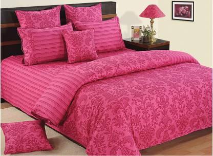 SWAYAM 240 TC Cotton Double King Printed Bedsheet