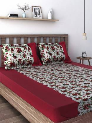 SWAYAM 210 TC Cotton Double Printed Bedsheet