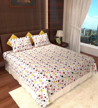 AMETHYST 150 TC Cotton Double Geometric Bedsheet