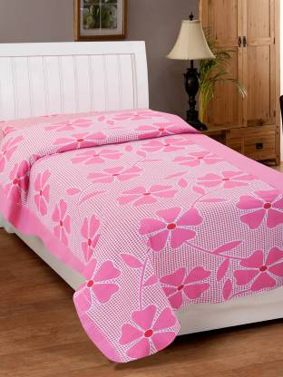 Zesture 144 TC Cotton Single Floral Bedsheet