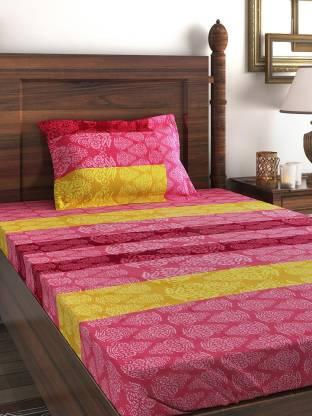 SWAYAM 210 TC Cotton Single Printed Bedsheet