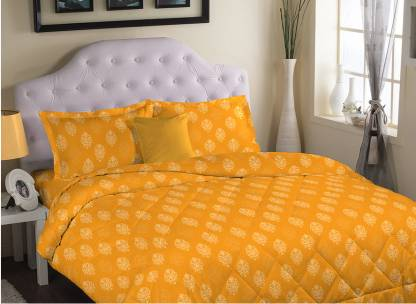 PORTICO NEW YORK 200 TC Cotton Double Printed Bedsheet