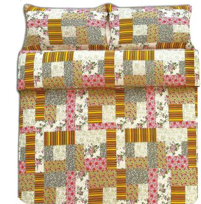 Indian Heritage Polycotton Double Floral Bedsheet