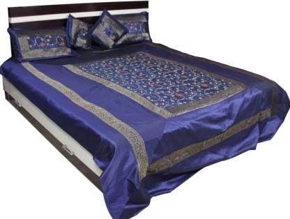 Soundarya Polyester Double Abstract Bedsheet