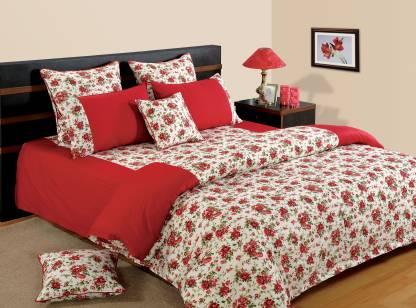 SWAYAM 210 TC Cotton Double King Printed Bedsheet