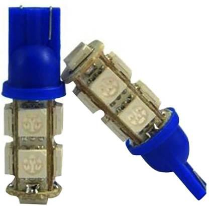 KASCN 5050 9 SMD BLUE LED LIGHT / LAMP / BULB T10 Socket Parking , Indicator (12v) Set of 4 for All Cars and motorcycle Projector Lens
