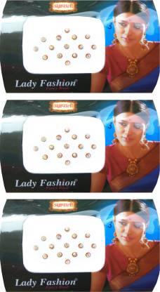 Lady FASHION Amarpali Crystals 2112201607 Forehead White Bindis