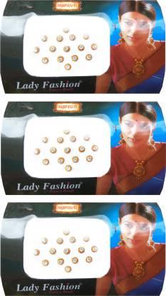 Lady FASHION Amarpali Crystals 2112201608 Forehead White Bindis