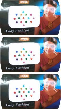 Lady FASHION Amarpali Crystals 2112201611 Forehead Multicolor Bindis