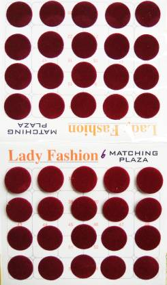 Lady FASHION Matchng Plaza 111020161506 Forehead Maroon Bindis