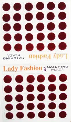 Lady FASHION Matchng Plaza 111020161203 Forehead Maroon Bindis