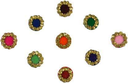 Instabuyz GOLDEN STONE FOREHEAD Multicolor Bindis