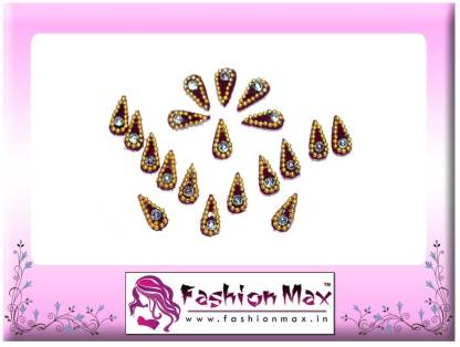 Fashion Max Red Mini Tika with Stone Forehead Maroon Bindis