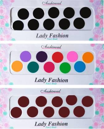 Lady FASHION Ashirwad Plain Bindi 2710201607 Forehead Multicolor Bindis