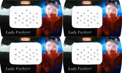 Lady FASHION Amarpali Crystals 0112201606 Forehead White Bindis