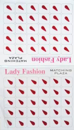 Lady FASHION LBIN0102 Forehead Maroon Bindis