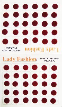 Lady FASHION Matchng Plaza 111020161001 Forehead Maroon Bindis