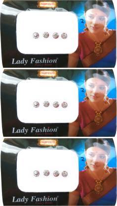 Lady FASHION Amarpali Crystals 2012201602 Forehead White Bindis