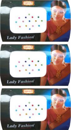 Lady FASHION Amarpali Crystals 2112201609 Forehead Multicolor Bindis