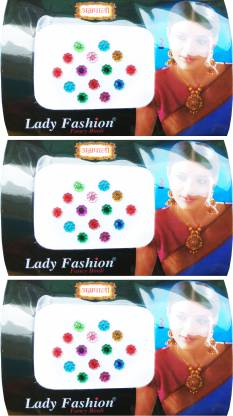 Lady FASHION Amarpali Collection 1912201606 Forehead Multicolor Bindis