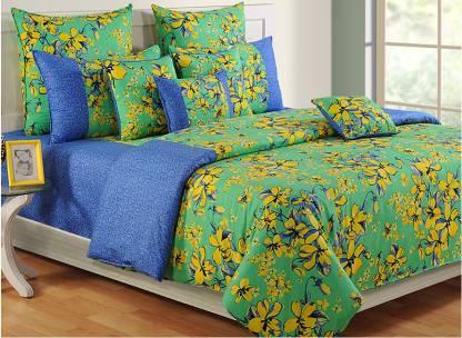 SWAYAM 200 TC Cotton Double Floral Bedsheet