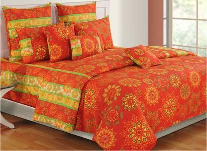 SWAYAM 200 TC Cotton Single Printed Bedsheet