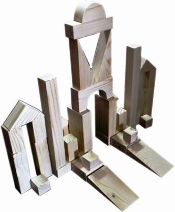 Kinder Creative Building Blocks - Wood Finish (60 Pcs)