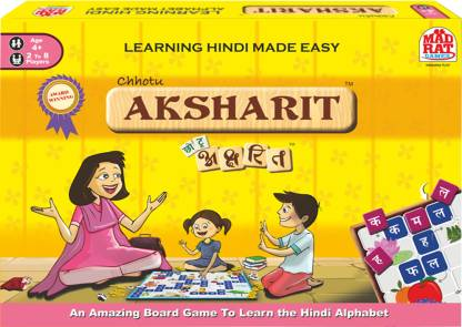 MadRat Games Chotu Aksharit-Hindi Alphabet Learning Word Games Board Game