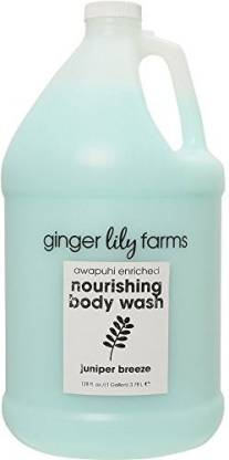 Ginger Lily Farm's Botanicals Nourishing Body Wash Gallon, Juniper Breeze, 4 Count