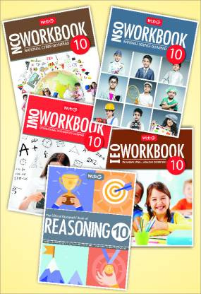 Workbook and Reasoning Book Combo for NSO, IMO, IEO, NCO - Set of 5 Books (Class 10)
