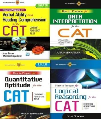 How to Prepare for the CAT Common Admission Test (Set of 4 Books)
