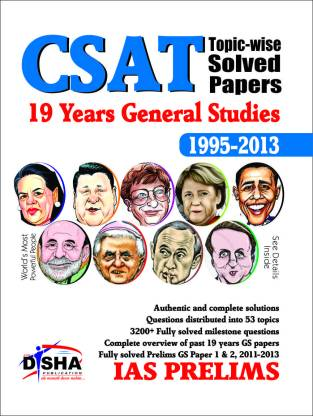 19 Years IAS Prelims (CSAT) General Studies Topic-wise Solved Papers (1995-2013)