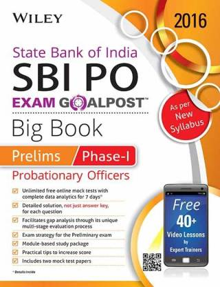 Wiley's State Bank of India Probationary Officer (Sbi Po) Exam Goalpost Big Book: Prelims, Phase-I