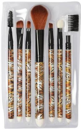 Looks United 7 Pcs High Quality Makeup Brush Set Brown