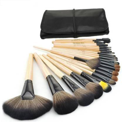 Basicare Professional Makeup Brushes Sets With Soft Black Bag
