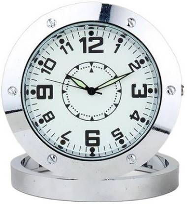 AUTOSITY Detective Survilliance Round-Steel-Table-Clock Spy Camera Product Camcorder