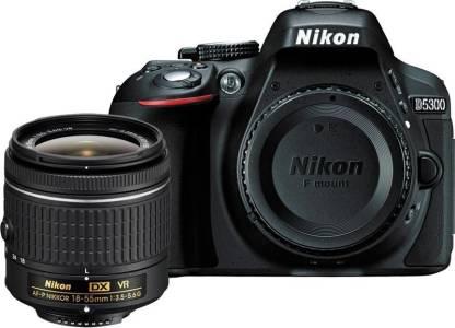 NIKON D5300 DSLR Camera Body with Single Lens: AF-P DX NIKKOR 18-55 mm f/3.5-5.6G VR Kit (16 GB SD Card + Camera Bag)